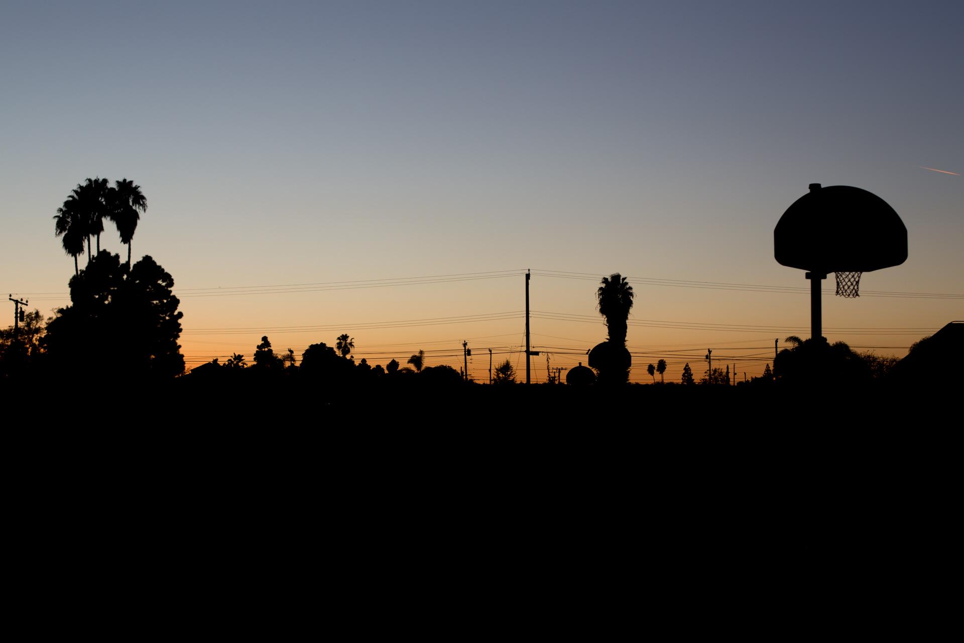 Sunset on the playground